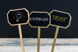 Sign for establish trust