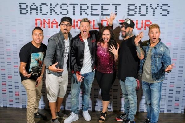 Stephanie with the Backstreet Boys!