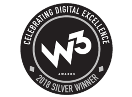 W3: Celebrating Digital Excellence - 2018 Silver Winner