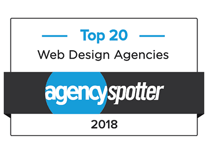 AgencySpotter's Top 20 Web Design Agencies 2018