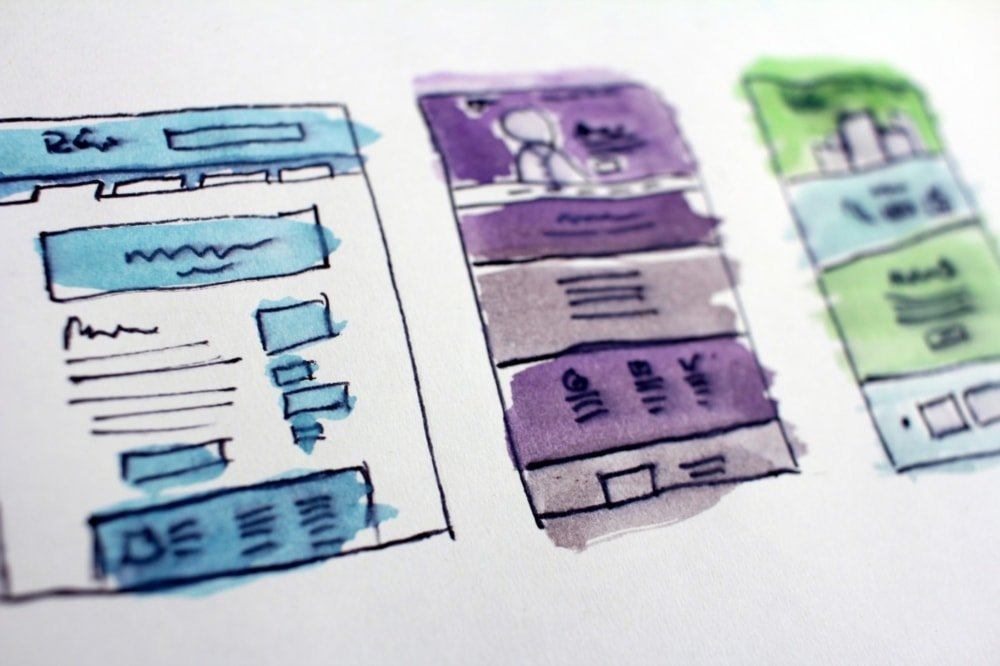web design standards abstract painting of wireframes
